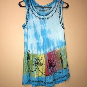 "India Boutique tank top. ""Free Size"""